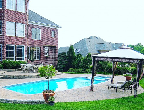 Olympus Pool with Paver Decking