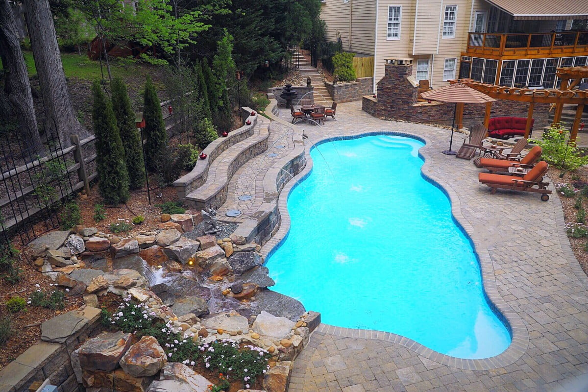 Taj Mahal Deep Pool In Sully Blue Poolscapes Of Charlotte